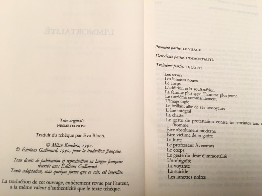 L'immortalité, de Milan Kundera