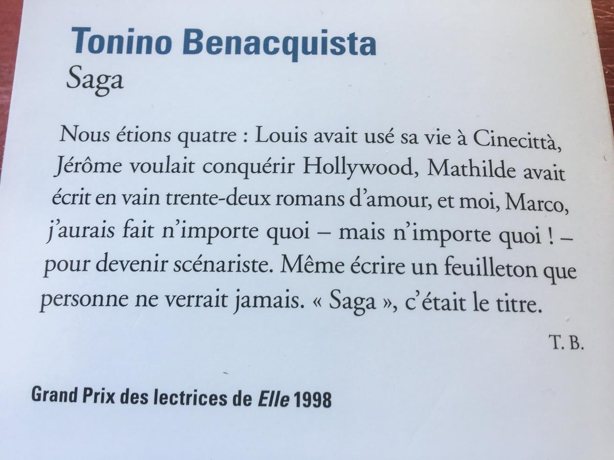 Saga de Tonino Benacquista