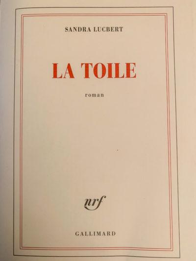 Notes de lecture : La Toile